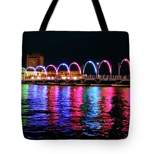 Tote Bag featuring the photograph Floating Bridge, Willemstad, Curacao by Kurt Van Wagner