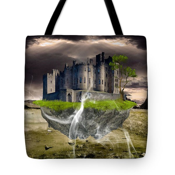 Floating Castle Tote Bag by Marvin Blaine