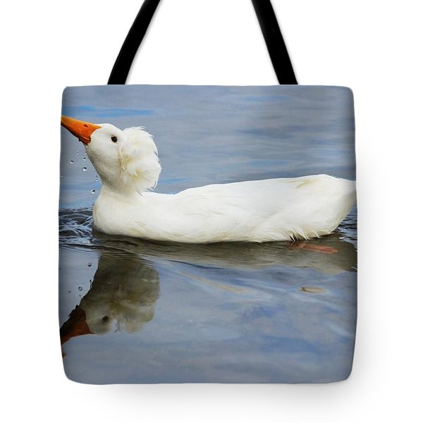 Floating Duck Tote Bag