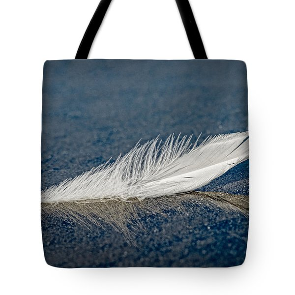 Floating Feather Reflection Tote Bag