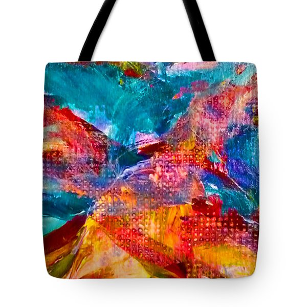 Tote Bag featuring the painting Floating Feather Swirls by Claire Bull