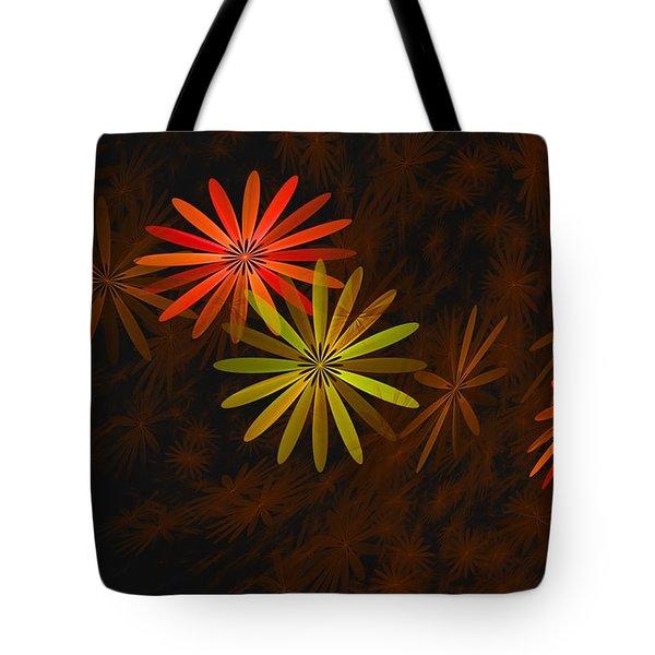 Floating Floral-008 Tote Bag by David Lane