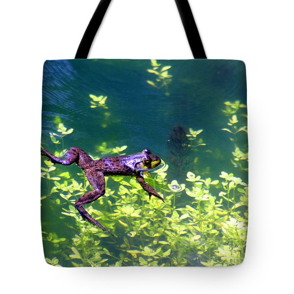 Floating Frog Tote Bag