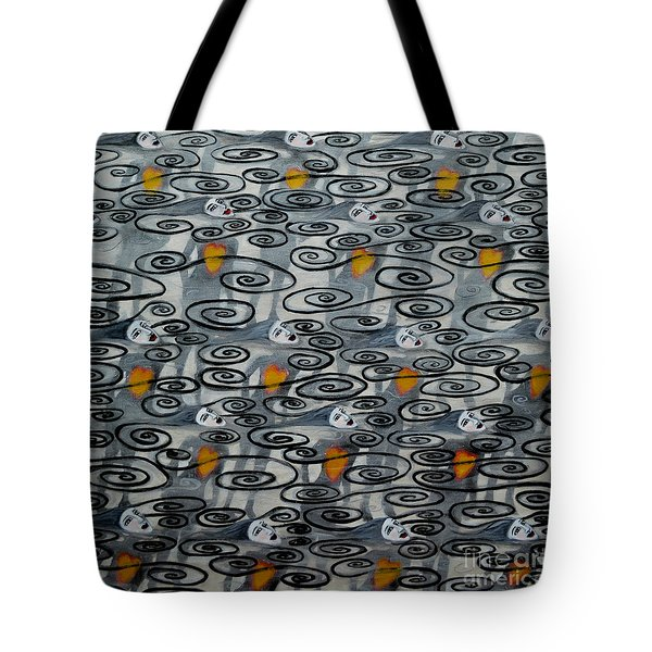 Floating Hearts Fifteen Tote Bag