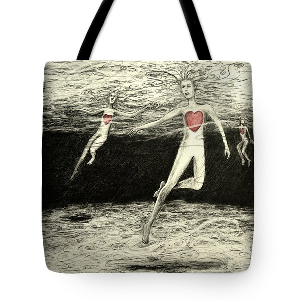 Floating Hearts #3 Tote Bag