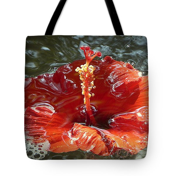 Floating Hibiscus Tote Bag by Lori Seaman