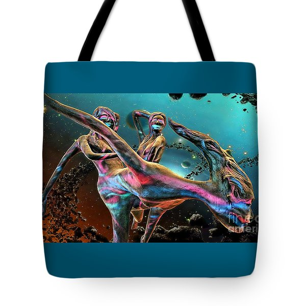 Floating In The Universe Tote Bag by Ian Gledhill