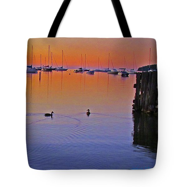 Tote Bag featuring the photograph Floating by John Hartman