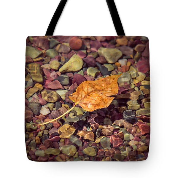 Tote Bag featuring the photograph Floating Leaf by Teresa Wilson