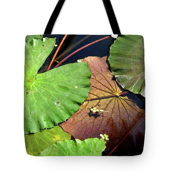 Floating Lily Pads Tote Bag