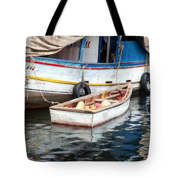 Tote Bag featuring the photograph Floating Market by Allen Carroll