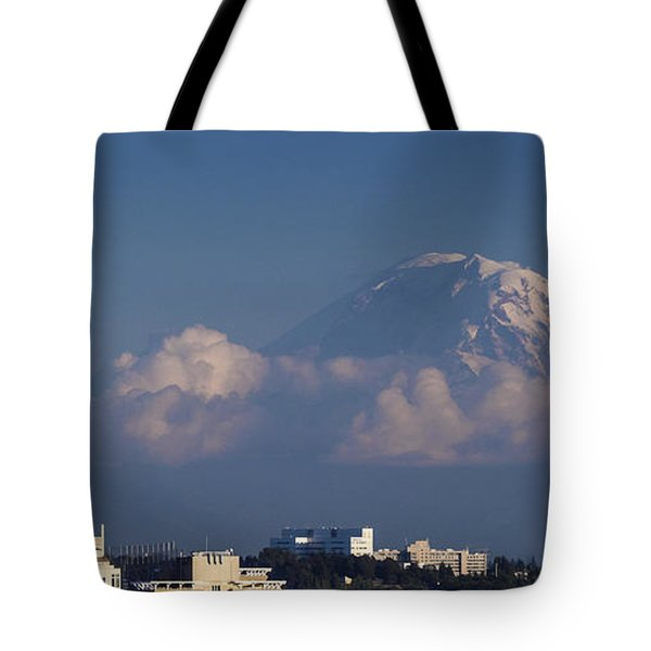Floating Mountain Tote Bag by Ed Clark