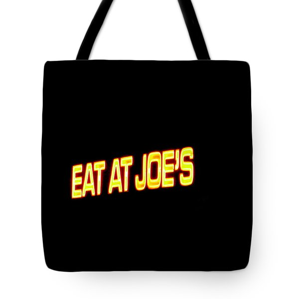 Floating Neon - Eat At Joes Tote Bag