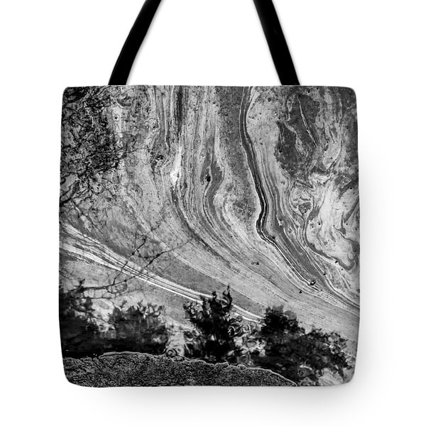 Floating Oil Spill On Water Tote Bag