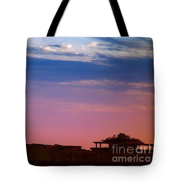 Floating On Orange Tote Bag by Rebecca Davis