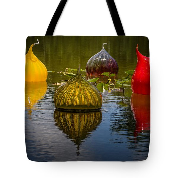Floating Orbs Tote Bag