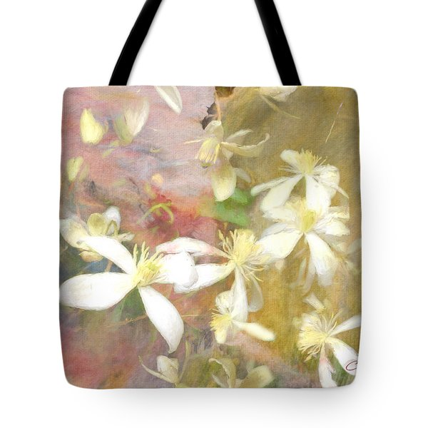 Floating Petals Tote Bag by Colleen Taylor