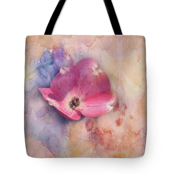 Tote Bag featuring the photograph Floating Pink Bloom by Toni Hopper