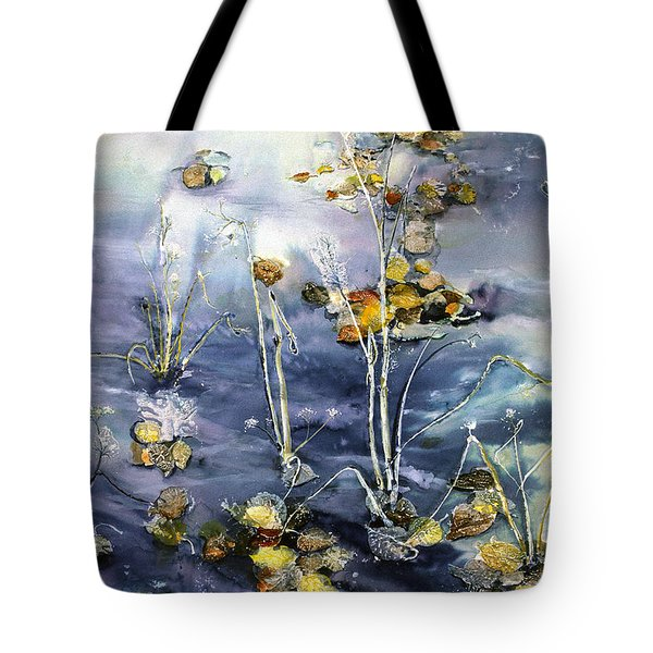 Floating Pond Leaves Tote Bag
