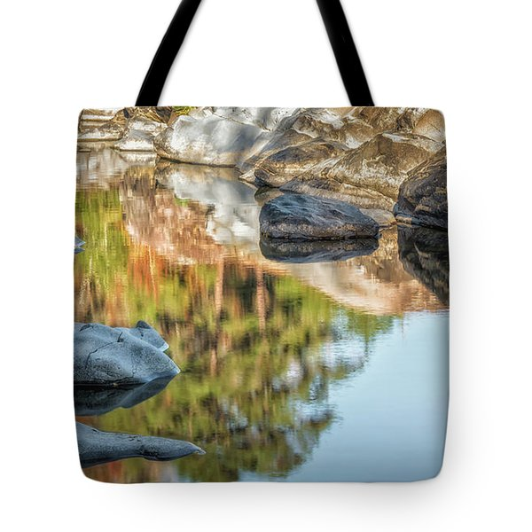 Tote Bag featuring the photograph Floating Rocks by James Barber