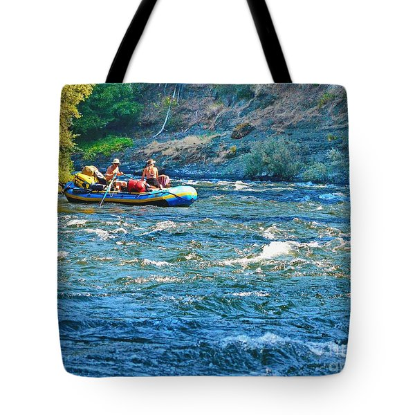 Floating The Rogue River Tote Bag