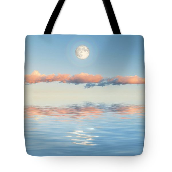 Floating Through Blue Tote Bag by Jerry McElroy