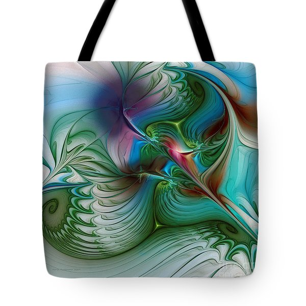 Tote Bag featuring the digital art Floating Through The Abyss by Karin Kuhlmann