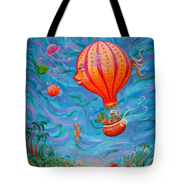 Floating Under The Sea Tote Bag