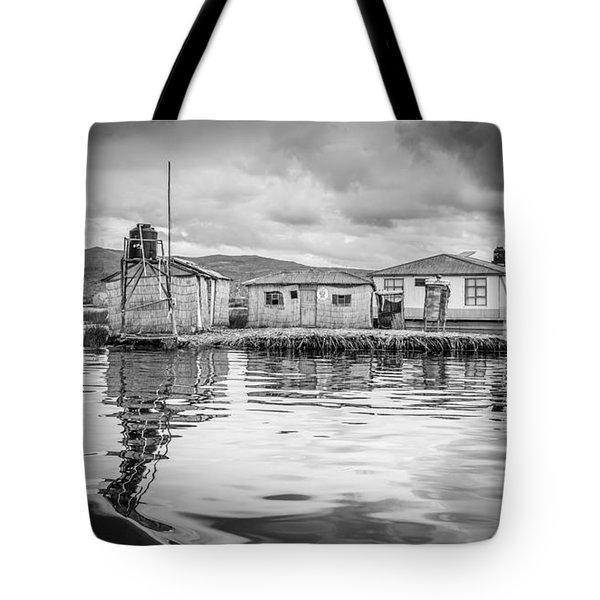 Floating Uros Island Tote Bag