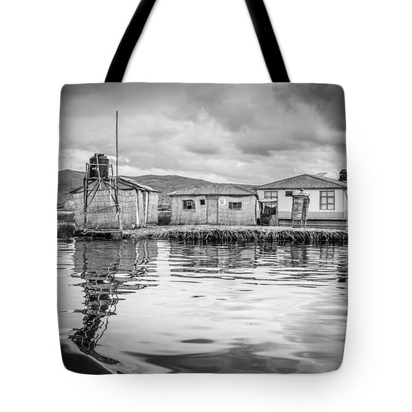 Tote Bag featuring the photograph Floating Uros Island by Gary Gillette