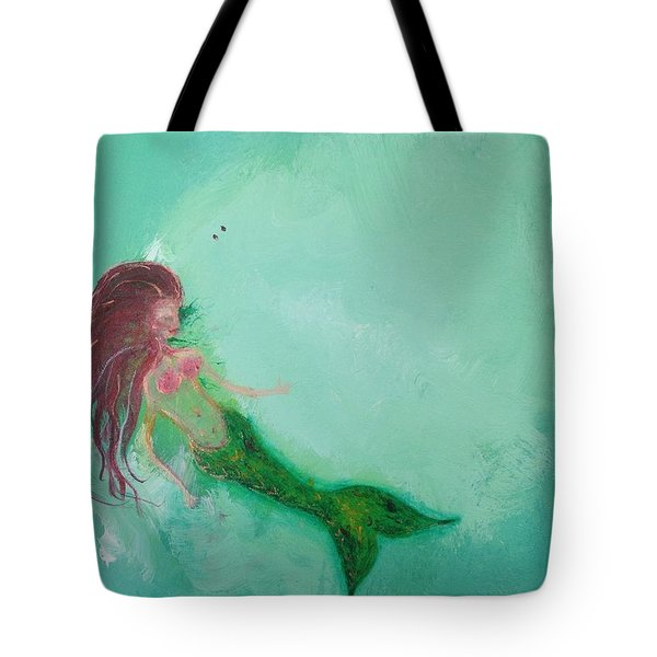 Floaty Mermaid Tote Bag