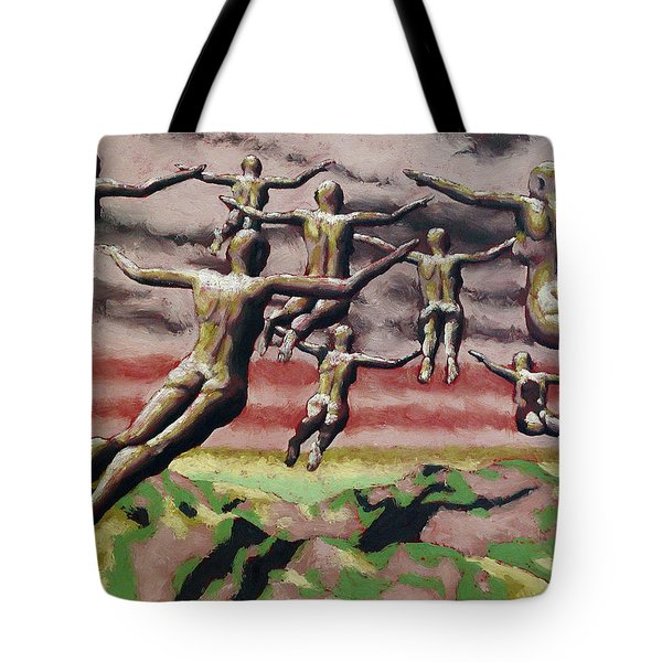 Flock Tote Bag by Leo Mazzeo