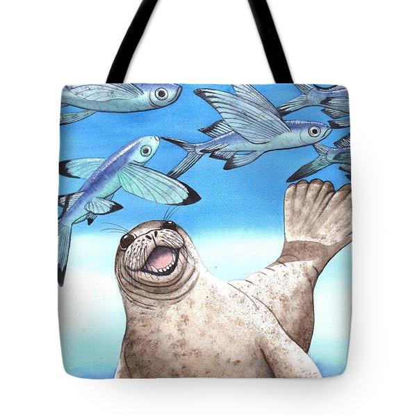 Flock Of Fish Tote Bag