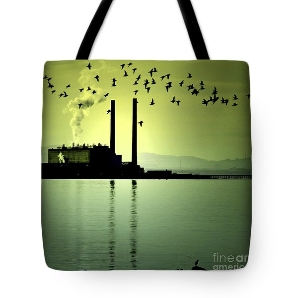 Tote Bag featuring the photograph Flock Of Gulls by Craig B