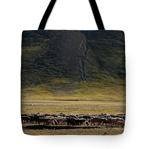Flock Of Sheep Tote Bag by Konstantin Dikovsky