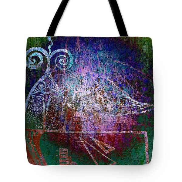Flocking To Abstraction Tote Bag by Misha Bean