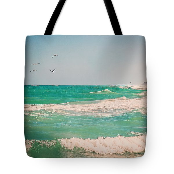 Flocking To The Beach Tote Bag