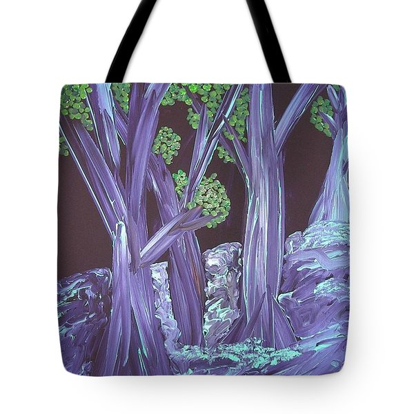 Tote Bag featuring the painting Flooded Forest by Joshua Redman