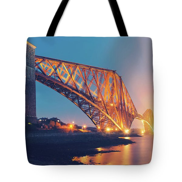Floodlit Forth Bridge Tote Bag