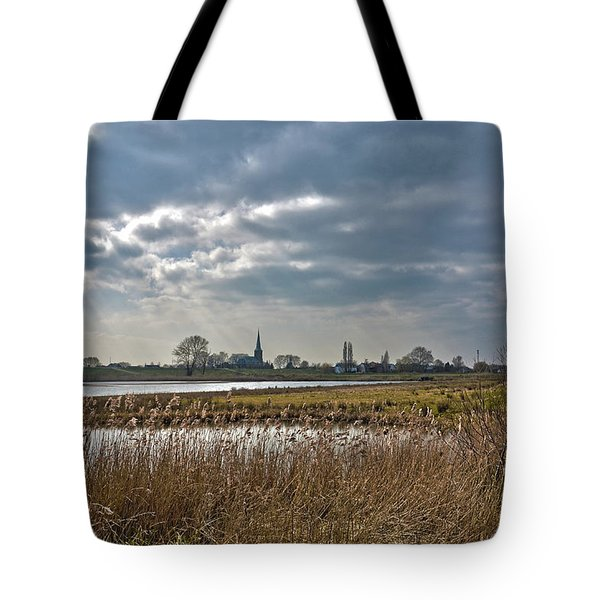Tote Bag featuring the photograph Floodplains Near Culemborg by Frans Blok
