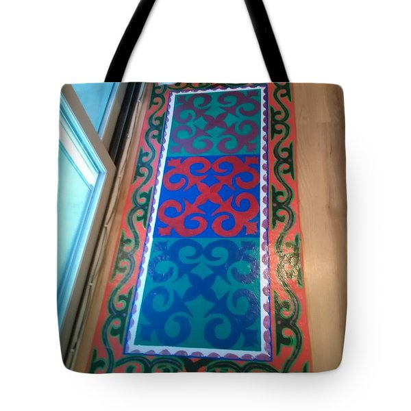 Floor Cloth Arabesque Tote Bag
