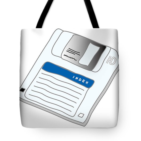 Floppy Disk Tote Bag