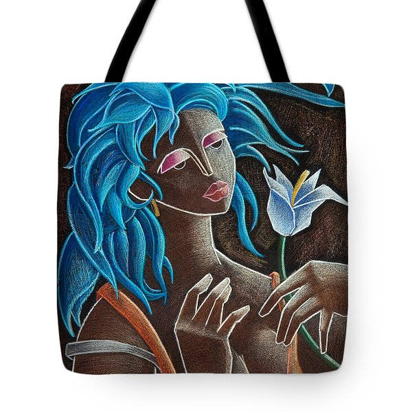 Tote Bag featuring the painting Flor Y Viento by Oscar Ortiz