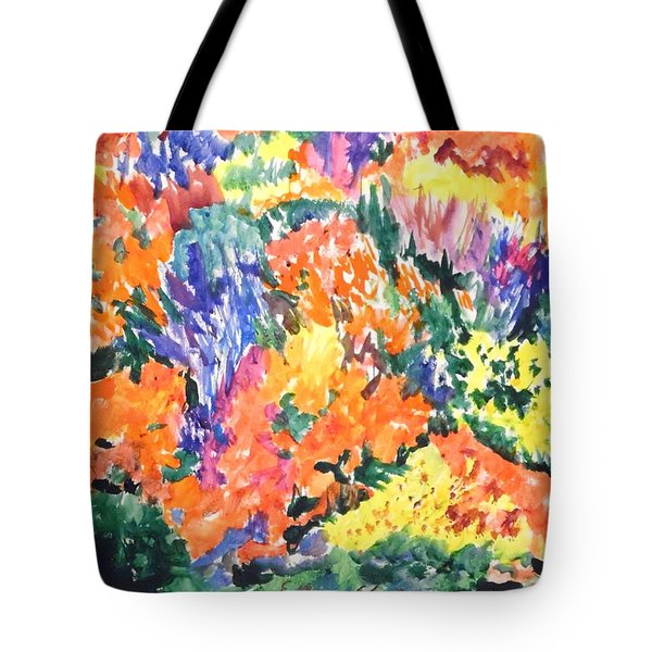 Flora Ablaze Tote Bag by Esther Newman-Cohen