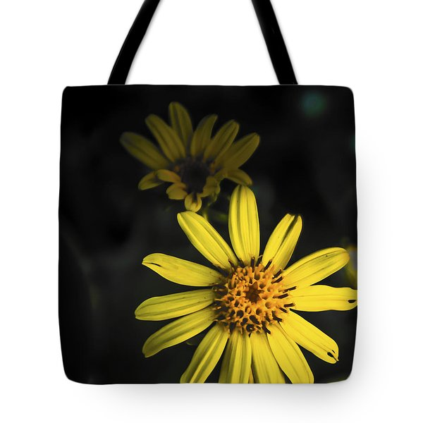 Flora In Yellow Tote Bag