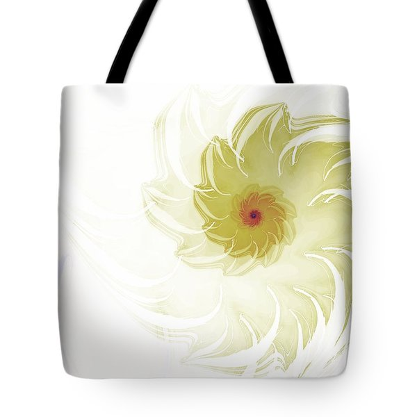 Tote Bag featuring the digital art Flora by Richard Ortolano