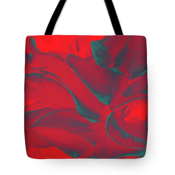Floral Abstract In Dramatic Red Tote Bag