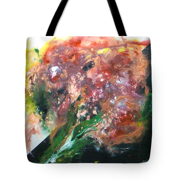 Floral Abstract Tote Bag by Jan Wendt