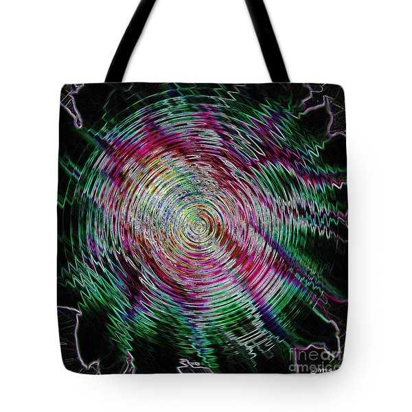 Floral Abstract Tote Bag