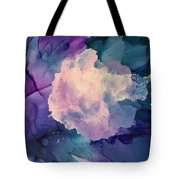 Floral Abstract Tote Bag by Suzanne Canner